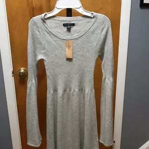American Eagle grey cotton blend knit dress